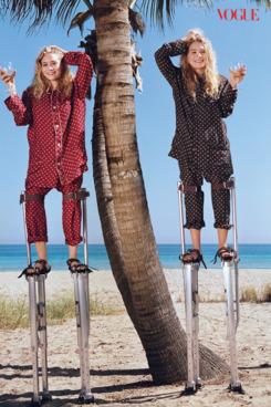 The Olsens in <em>Vogue</em>.