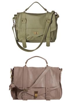 Target's Mossimo messenger (top) and Proenza's PS1 bag (bottom).