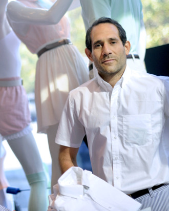 Dov Charney, looking almost happy.