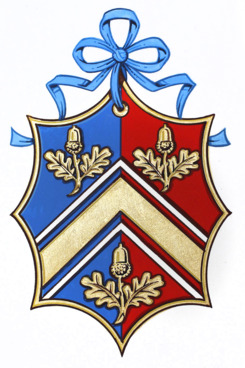The Middleton family's coat of arms, all pretty and old-school.