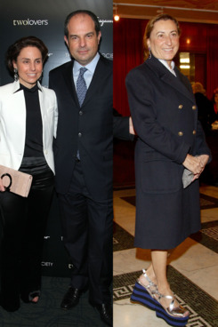 From left: Chiara and Massimo Ferragamo, Miuccia Prada.