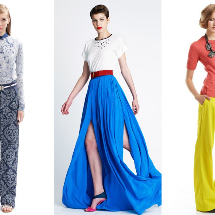 From left: new resort looks from Marc Jacobs, Yigal Azrouël, and Lela Rose.