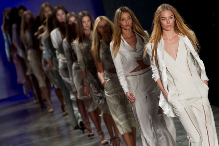 A finale at Sao Paulo Fashion Week last June.