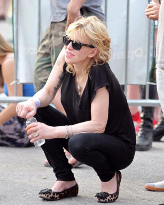 Courtney in McCarren Park on Saturday.