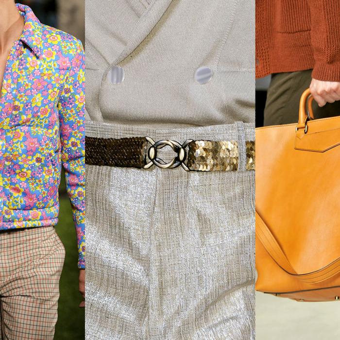 From left: Prada, Alexander McQueen, and Burberry.