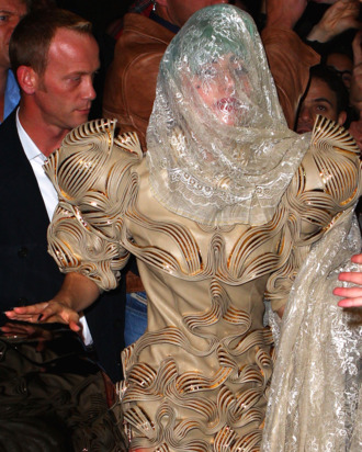 This is Lady Gaga, possibly covered in mucus.