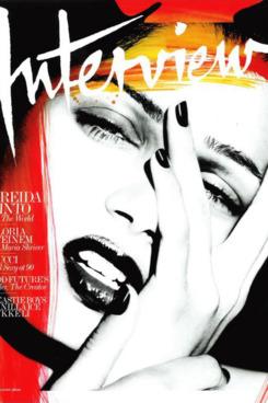 Freida Pinto's <em>Interview</em> cover.