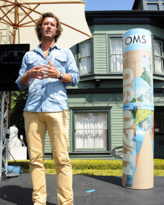 Blake Mycoskie, wearing a nice crunchy outfit.