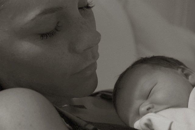 Victoria Beckham and Harper Seven.