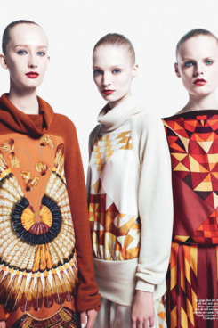 Looks from Christophe Lemaire's fall 2011 collection for Hermès.
