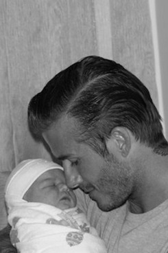 David Beckham with Harper Seven.