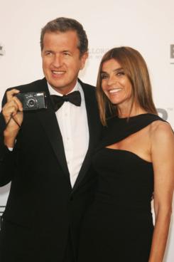 Carine Roitfeld and Mario Testino.