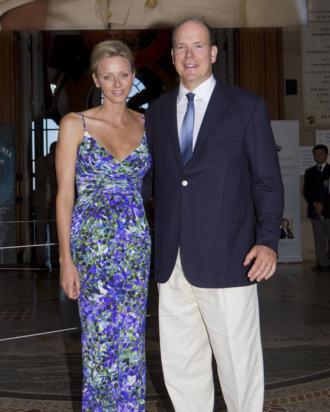 Charlene with husband Prince Albert II