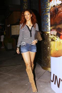 Rihanna in Beverly Hills yesterday.