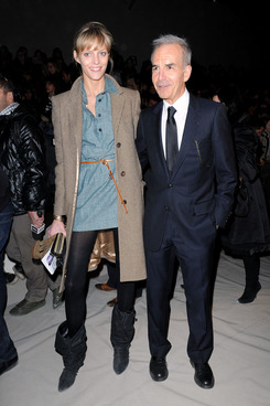 Toledano with Anja Rubik during his Chloé days.