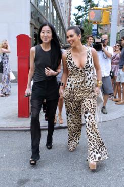 Vera Wang and Kim Kardashian, hanging out super-secretly last week.