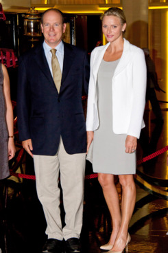 Prince Albert and Princess Charlene of Monaco on August 3.