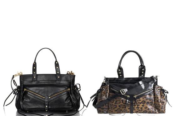 "Botkier's ""Clyde"" bag (left), Kardashian Kollection bag (right)."
