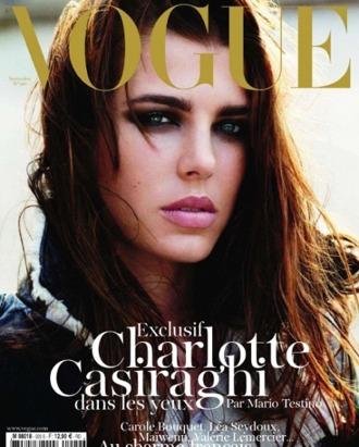Charlotte Casiraghi for French <em>Vogue</em>.