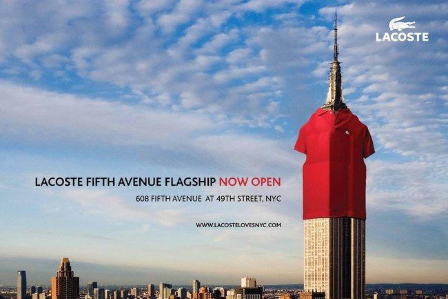 Lacoste's new ad campaign.
