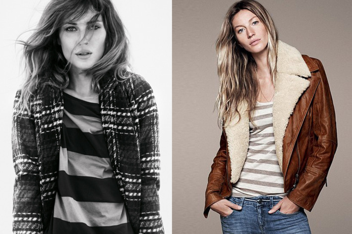 Erin Wasson and Gisele for Esprit.