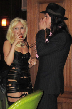 Gaga and Luc Carl at Oak Room in January.