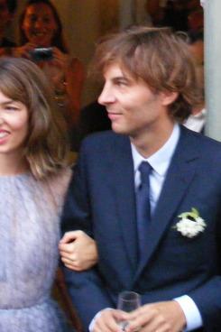 Sofia Coppola at her wedding.