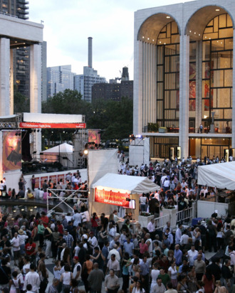 Lincoln Center during fashion week.