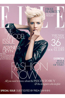 Agyness Deyn for <em>Elle</em> UK.