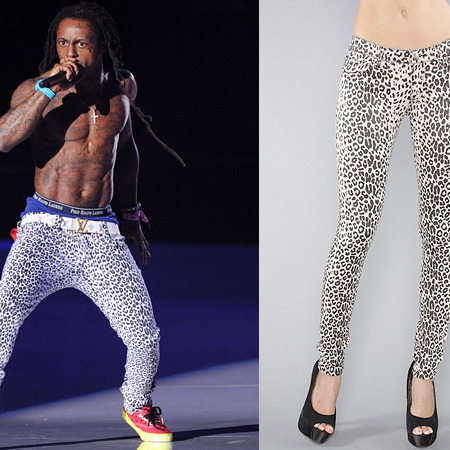 Lil Wayne and his pants.