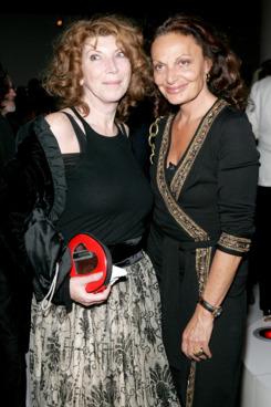 Nona Summers with Diane Von Furstenberg in 2005.