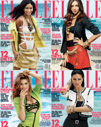 <em>Elle</em>'s October covers.