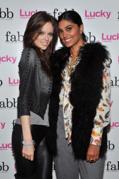 Coco Rocha with Rachel Roy.