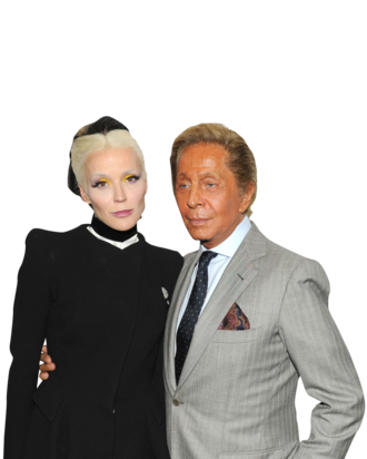 Daphne Guinness and honoree Valentino.