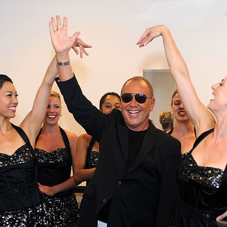 Michael Kors with the Rockettes.