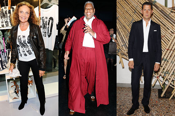 DVF, André Leon Talley, and Stefano Tonchi.