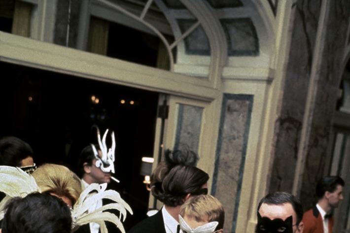 Mia Farrow at the Black and White Ball.