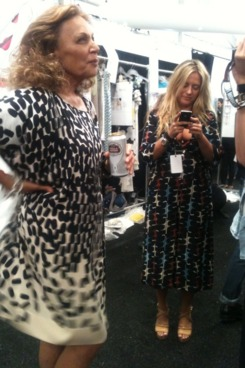 DVF before her show.