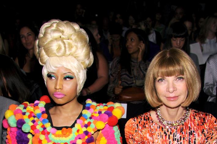Nicki Minaj and Anna Wintour.