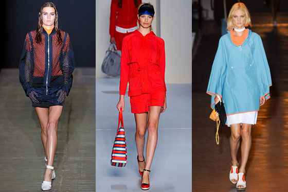 From left: Spring looks from Alexander Wang, Marc by Marc Jacobs, and rag & bone.