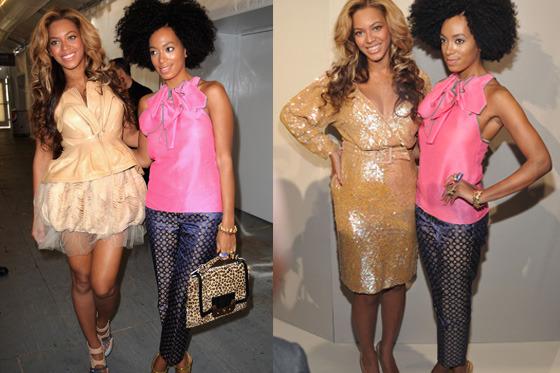 Beyoncé and Solange.
