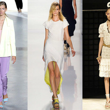 New spring looks from Phillip Lim, J. Mendel, and Douglas Hannant.