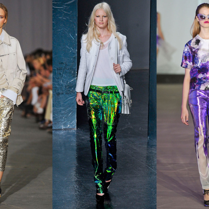 Spring 2012 looks from left: Diesel, Theysekens' Theory, and Prabal Gurung.
