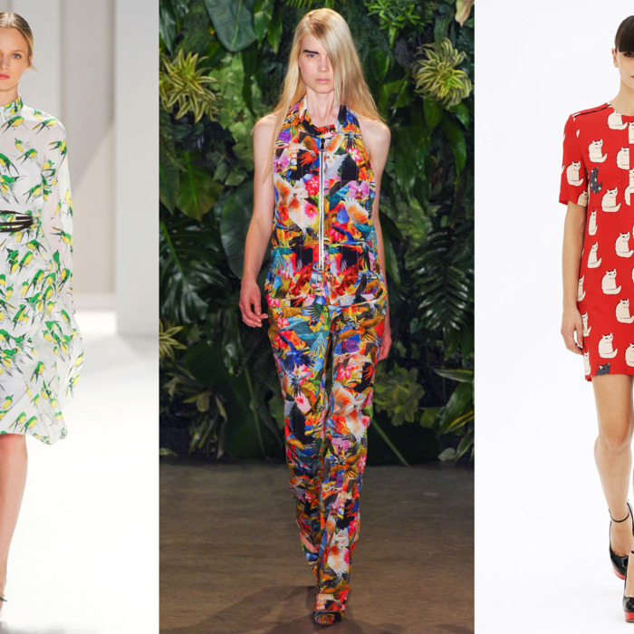 Spring 2012 looks from Carolina Herrera, Altuzarra, and Victoria by Victoria Beckham.
