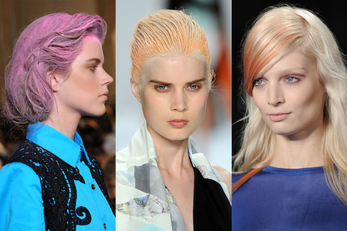 Hair at Thakoon, Narciso Rodriguez, and Peter Som's spring 2012 shows.