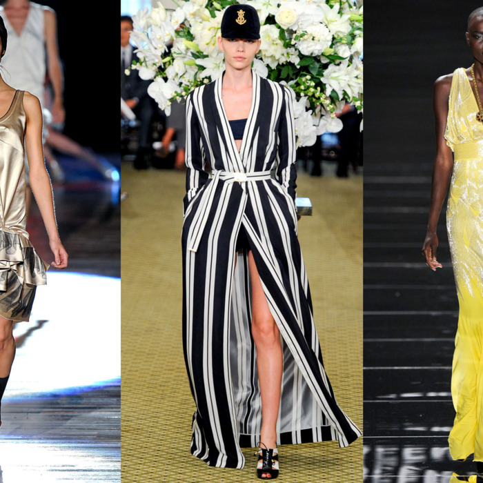 New spring looks from Marc Jacobs, Bill Blass, and Naeem Khan.