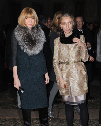 Anna Wintour and Franca Sozzani.