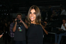 NEW YORK, NY - SEPTEMBER 10: Carine Roitfeld attends the Alexander Wang Spring 2012 fashion show during Mercedes-Benz Fashion Week at Pier 94 on September 10, 2011 in New York City. (Photo by Neilson Barnard/Getty Images)