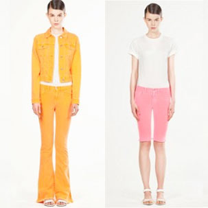 Looks from J Brand's capsule collection for Christopher Kane.