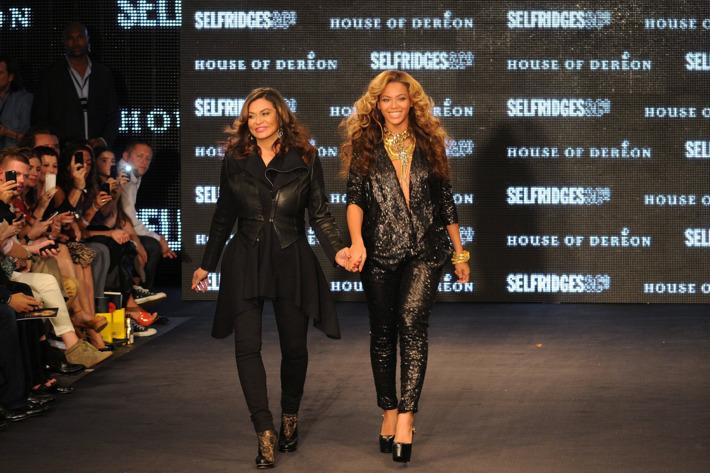 Tina and Beyoncé Knowles.